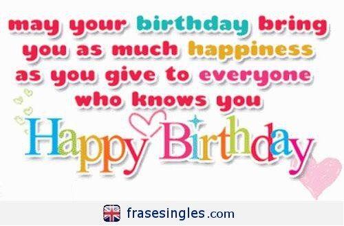 Felicitaciones De Cumpleaños En Inglés Frasesinglescom