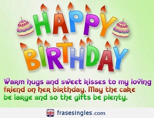 Felicitaciones De Cumpleaños En Inglés Frasesingles Com